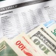 Foreign exchange sheet — Stock Photo