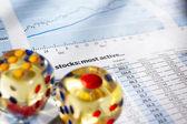 Risk on stock exchange — Stock Photo