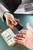 Car transaction — Stock Photo