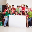 Christmas group shot of Asian — Stockfoto
