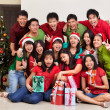 Royalty-Free Stock Photo: Christmas group shot of Asian