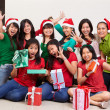 Stock Photo: Christmas group shot of Asian