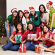 Christmas group shot of Asian — Zdjęcie stockowe