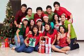 Christmas group shot of Asian — Stock Photo
