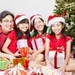 Family pose on Christmas — Stock Photo #10909740
