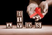 Causa di aids — Foto Stock