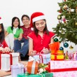 Kids and Christmas present — Stock Photo #10991678