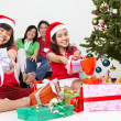 Stock Photo: Kids and Christmas present