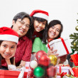 Family pose on Christmas — Stock Photo #10991968