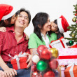 Family's love in Christmas season — Stock Photo