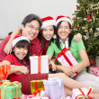 Royalty-Free Stock Photo: Family pose on Christmas