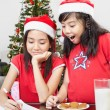 Kids busy preparing letter to Santa — Stock Photo