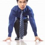 Asian businessman start to run — Stock Photo #10995501