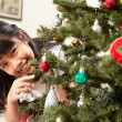 Royalty-Free Stock Photo: Asian little girl and Christmas tree