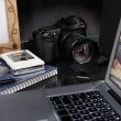 Photographer desk — Stock Photo #10998369