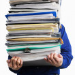 Stock Photo: Carry pile of paperworks