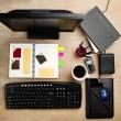 Designer working desk — Stock Photo