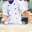 Chef making noodle — Stock Photo