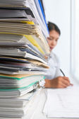 Paperwork and worker — Stock Photo