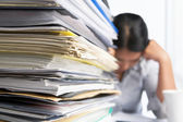 Heavy workload — Stockfoto