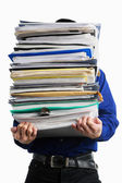 Carry pile of paperworks — Stock Photo