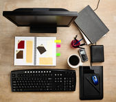 Designer working desk — Stock Photo