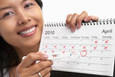 Ovulation date — Stock Photo