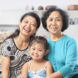 Stock Photo: Three generation of Asian females