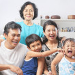Family portrait with grandmother — Stock Photo