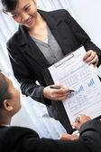 Asian busnesswoman presentation — Stock Photo