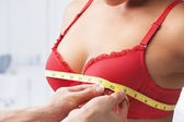 Measuring bust size — Stock Photo
