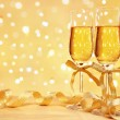 Stock Photo: Champagne with blur light