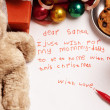 Honest child Christmas wish — Stock Photo