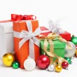 Pile of Christmas presents — Stock Photo