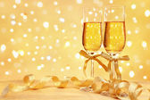 Champagne with blur light — Stock Photo