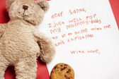 Honest child Christmas wish — Stock Photo