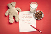 Christmas wish letter from lonely child — Stock Photo