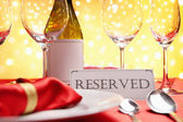 Reserved table — Stock Photo
