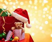 Christmas shopping bag — Stock Photo
