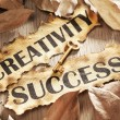 Creativity is key to success concept — Stock Photo