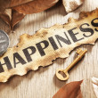 Stock Photo: Guidance and key to happiness concept