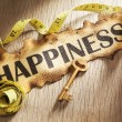 Stock Photo: Measuring happiness concept
