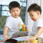 broers samenspelen — Stockfoto