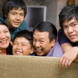 Asian family lifestyle portrait — Stock Photo