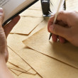 Hand writing using quill pen — Stock Photo #11059197