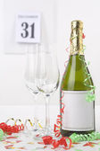 Champagne on new year eve — Stock Photo