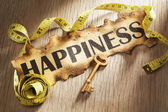 Measuring happiness concept — Stock Photo