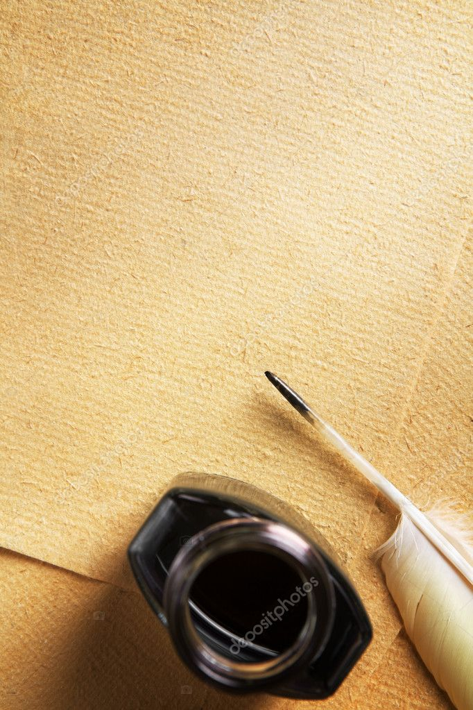 Quill And Ink And Paper