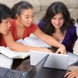 Study group of multi ethnic students - Stockfoto