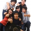 Group of multi ethnic teenagers posing together — Stock Photo